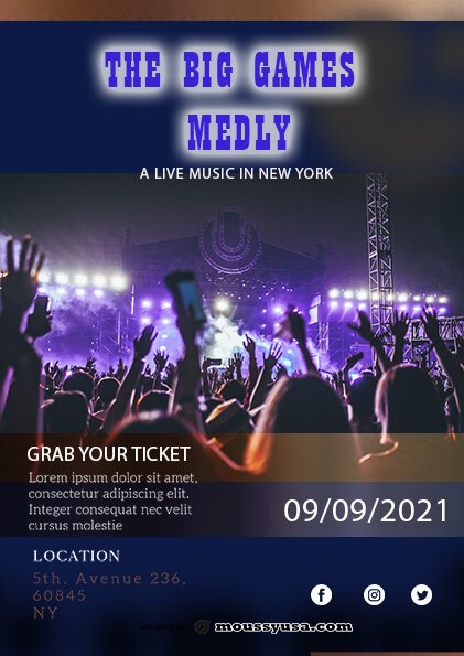 Live Music Festival Flyer template sample