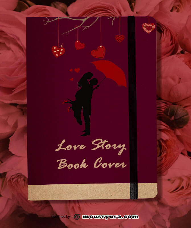 Love Book Story Design PSD