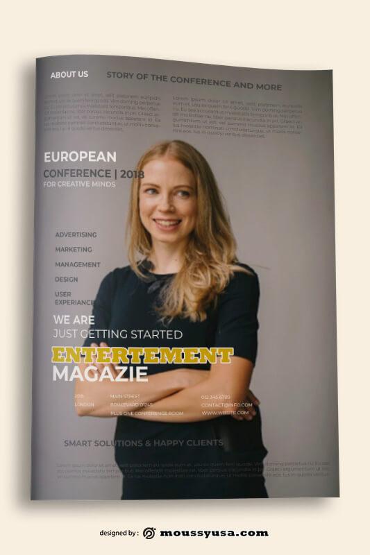 Magazine Book Cover Design Template
