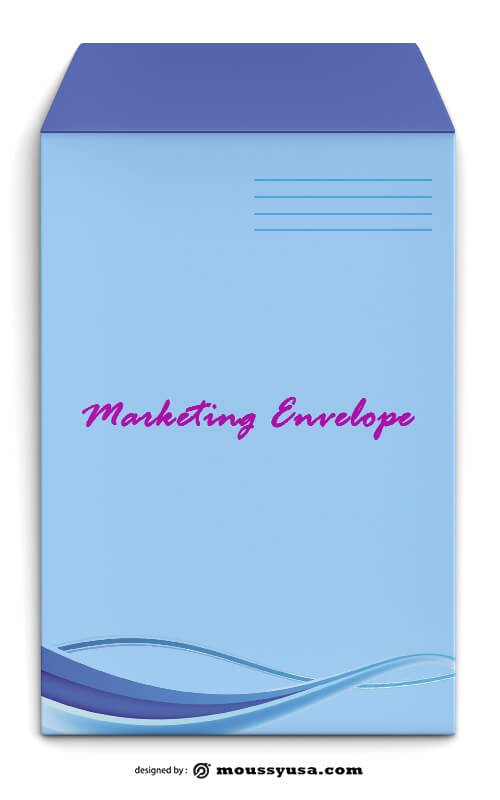 Marketing Envelope Template Design