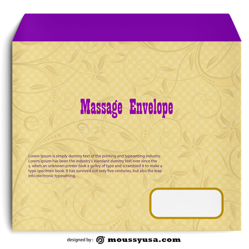 Massage Envelope Template Ideas