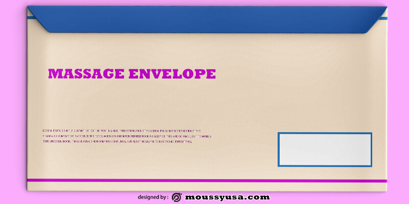Massage Envelope Template Sample