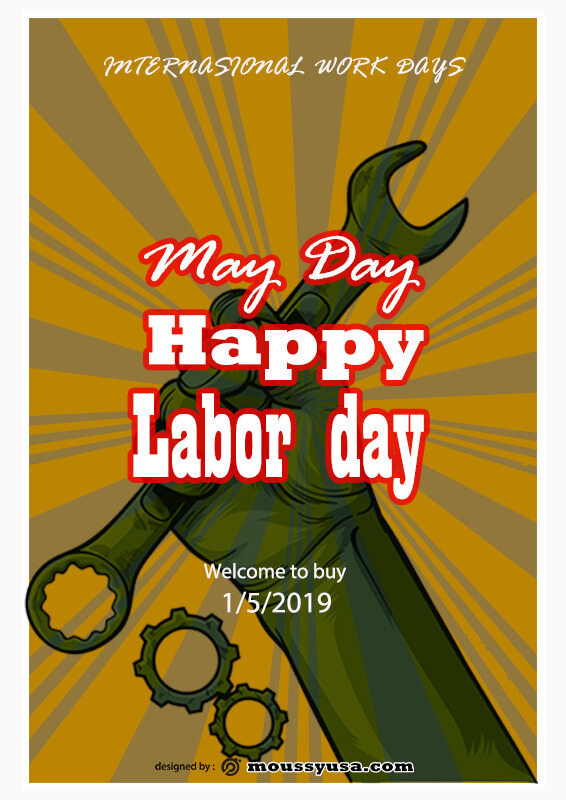 May Day Poster Design PSD