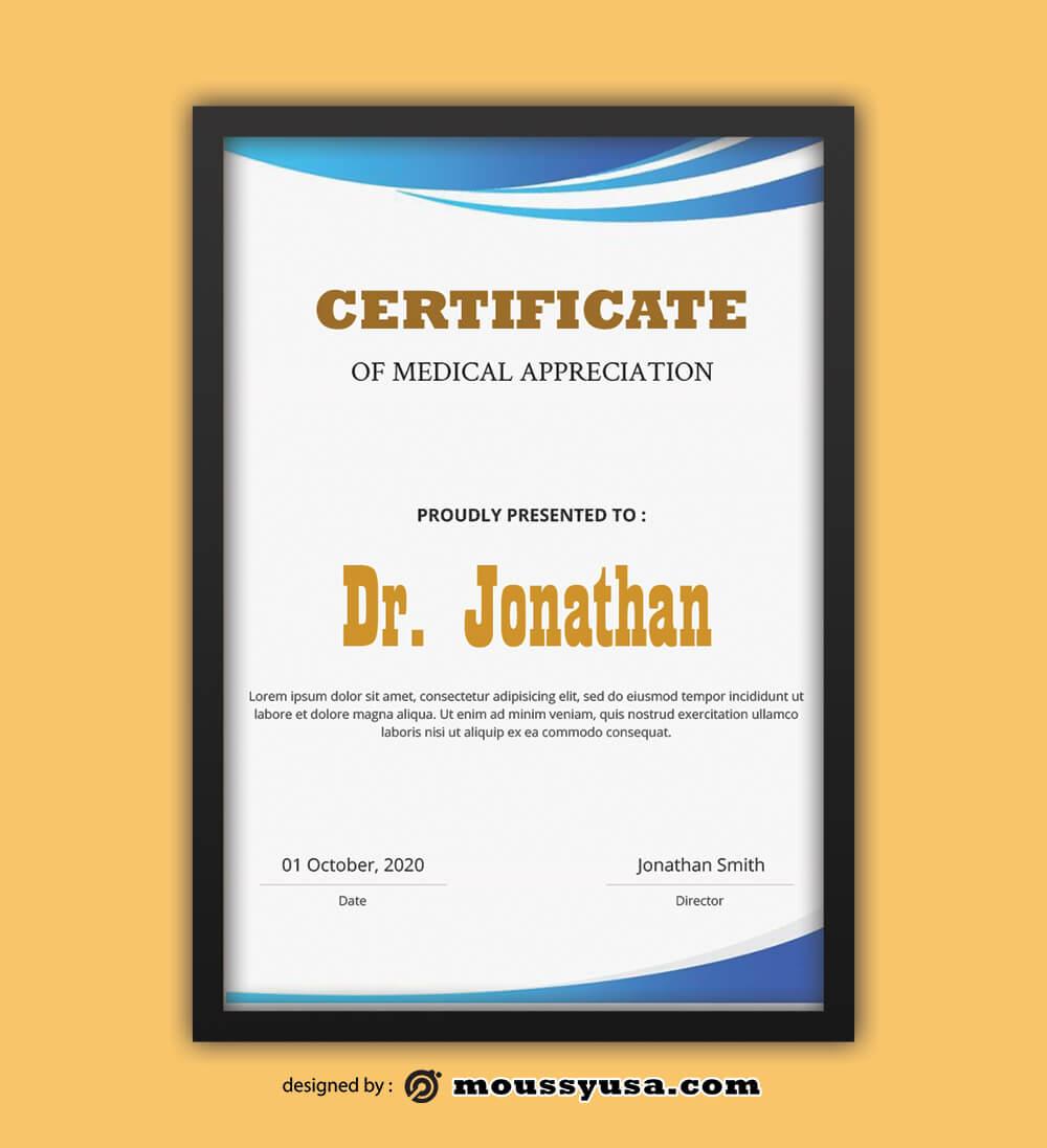 Medical Certificate Design Template