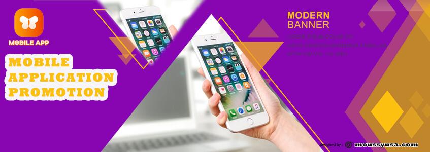 Mobile App Banner Design Template