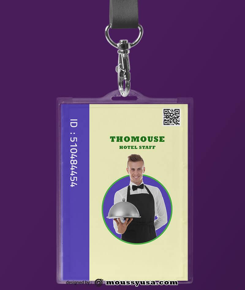 Modern Hotel ID Card Design Ideas