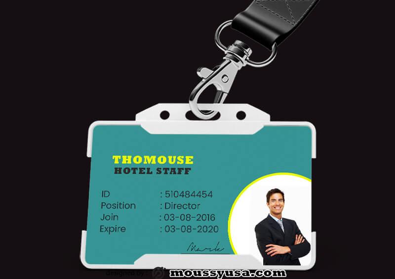 Modern Hotel ID Card Design Template