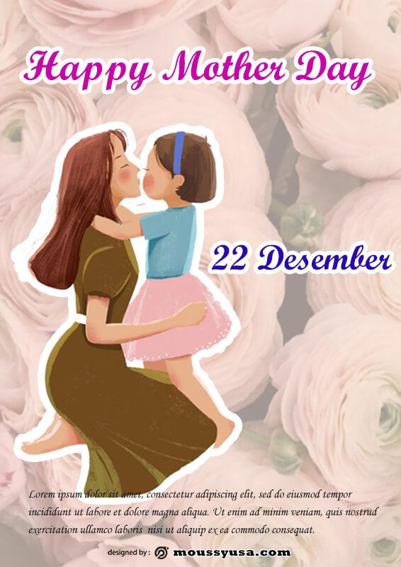 Mother Days Poster Design PSD
