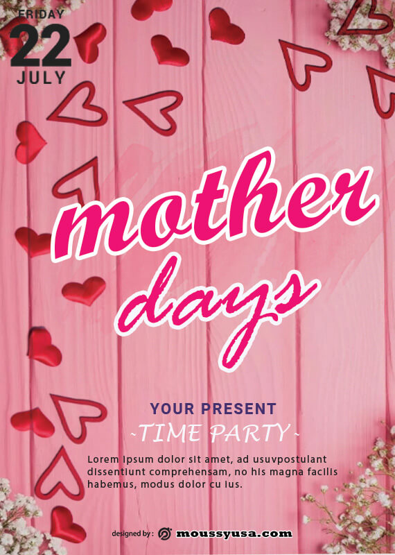 Mother Days Poster Design Template