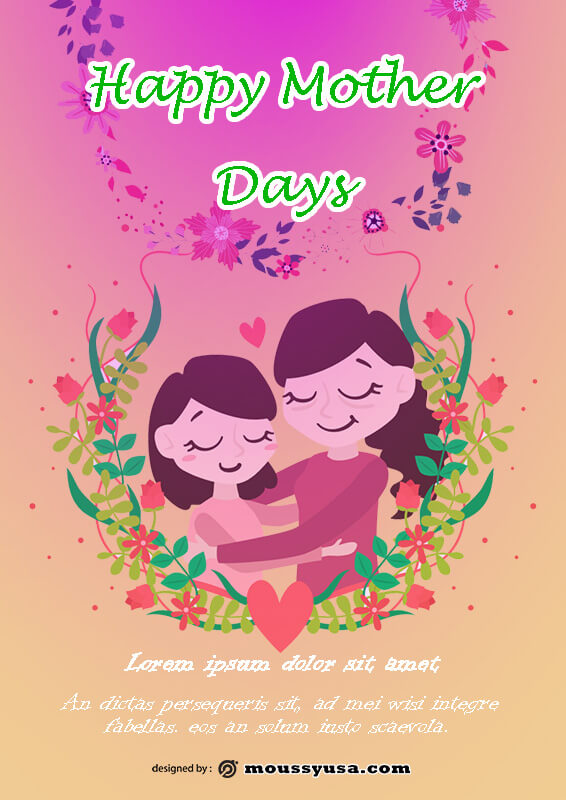 Mother Days Poster Template Example