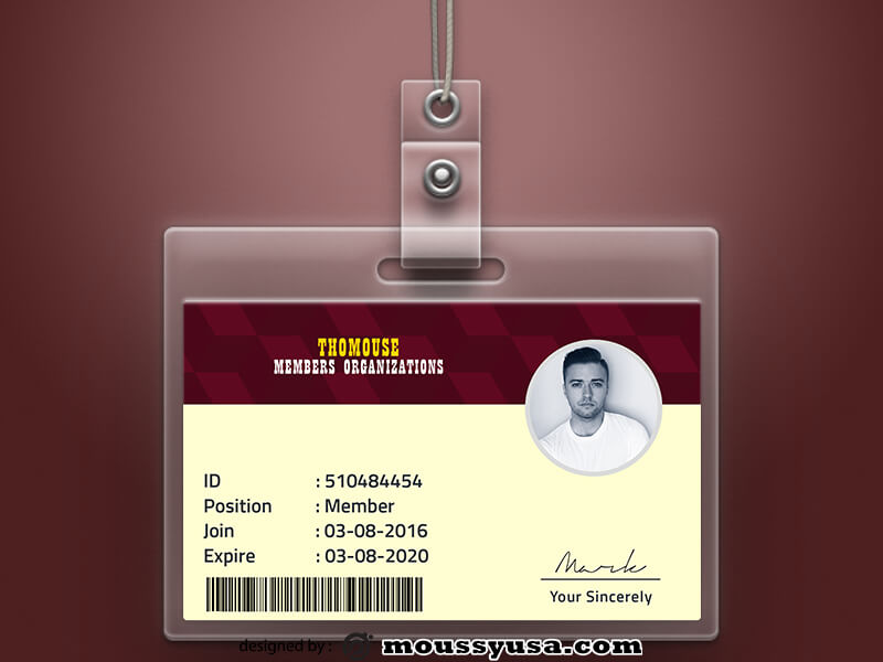 Organizations ID Card Template Design