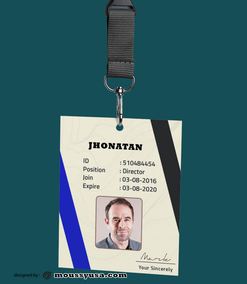 Organizations ID Card Template Ideas