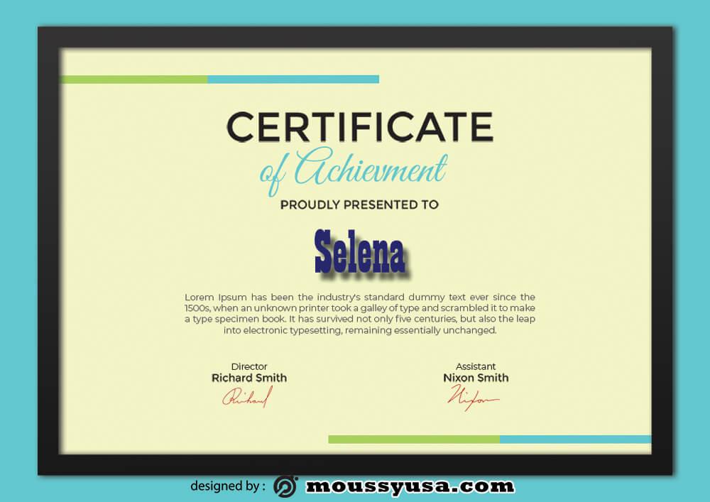PSD Achievment Certificate Template