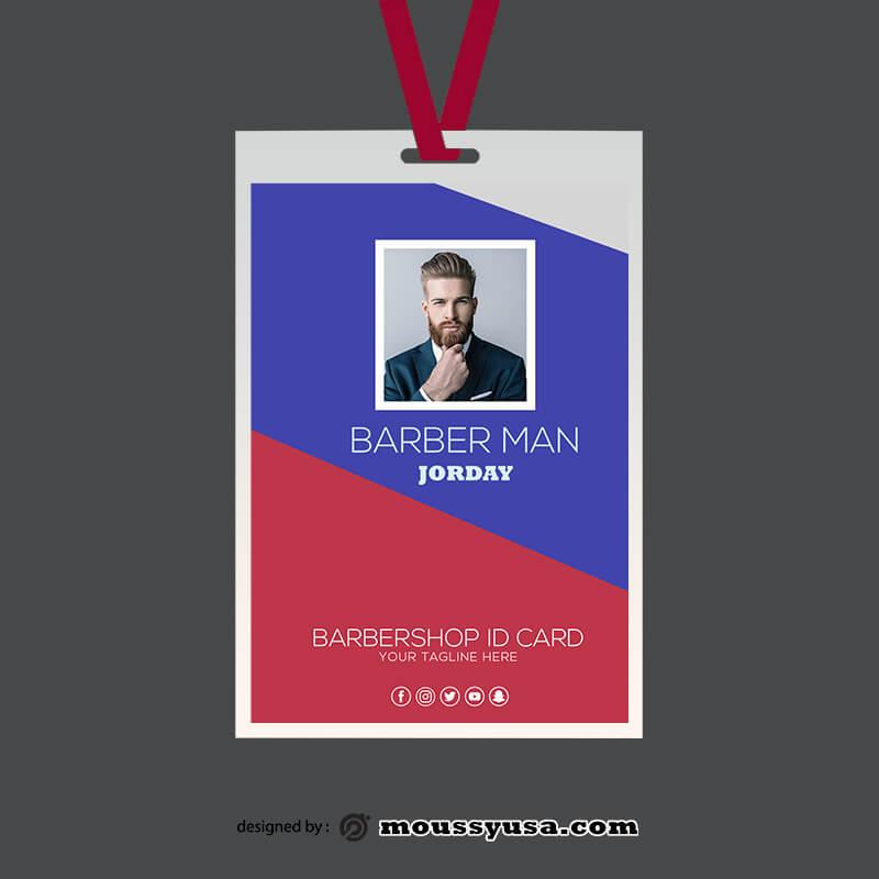 PSD Barbershop ID Card Template