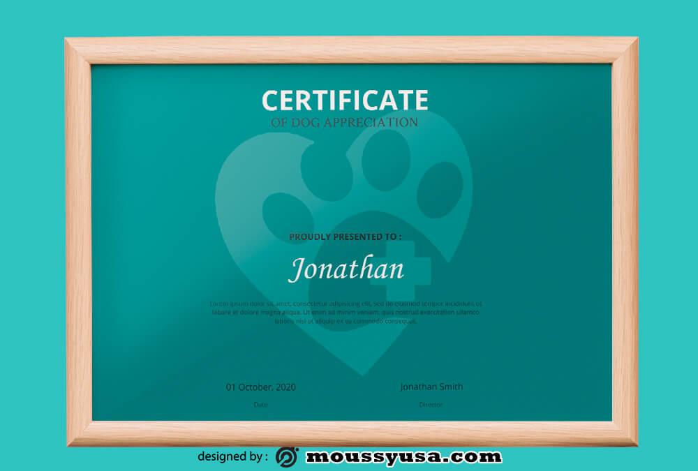 PSD Certificate Design Template
