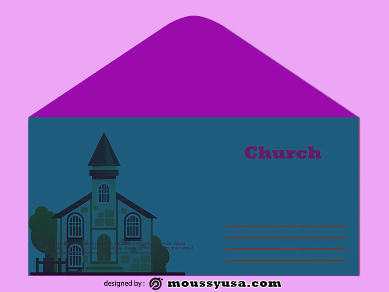 PSD Church Envelope Template