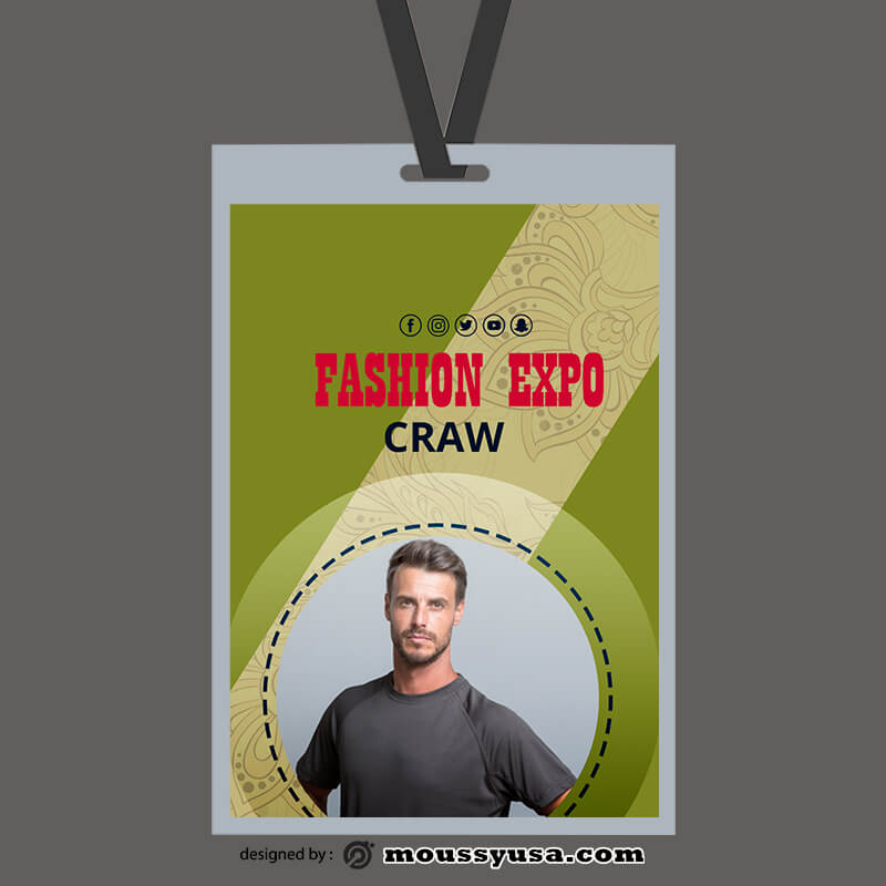 PSD Event ID Card Template