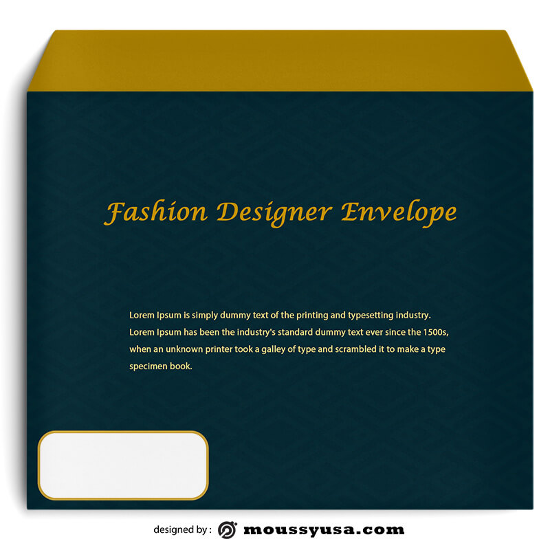 PSD Fashion Designer Envelope Template