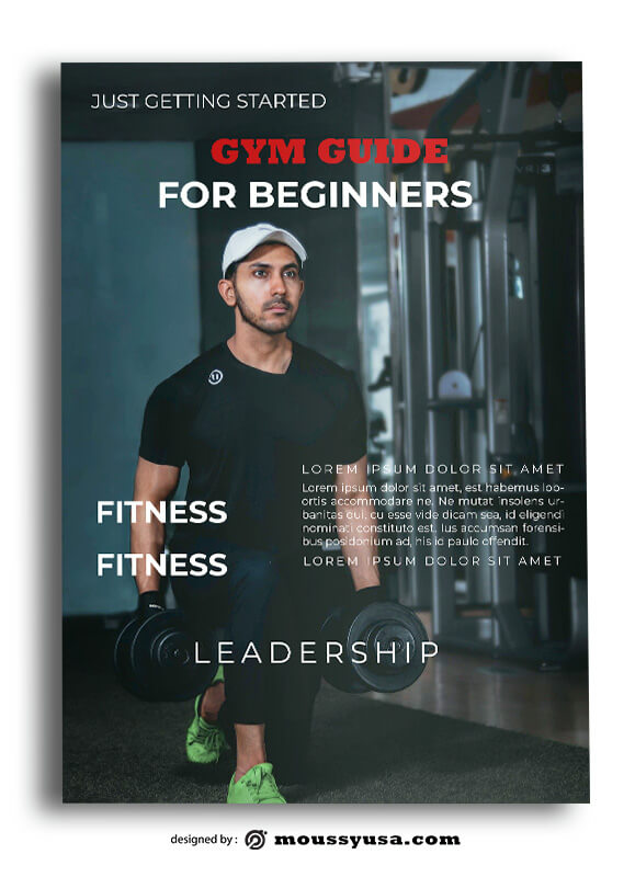 PSD GYM Book Cover Template