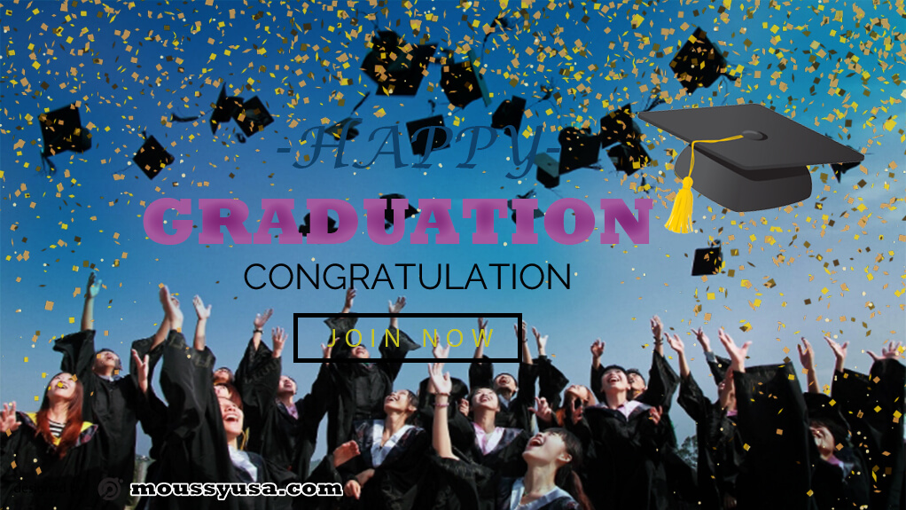 PSD Graduation Banner Template