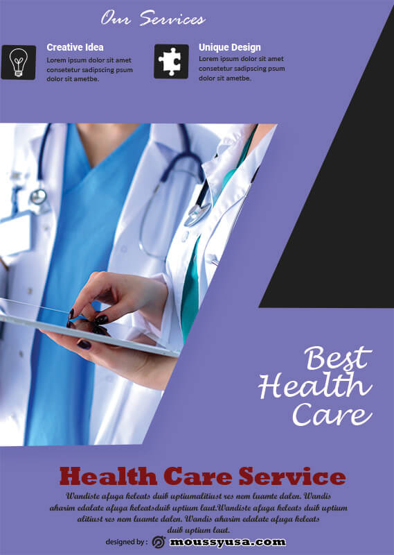 PSD Health Care Poster Template