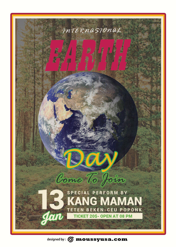PSD International Earth Day Poster Template
