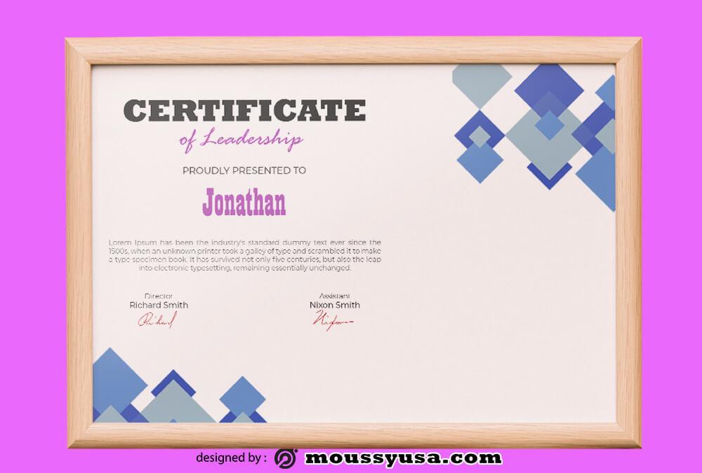 PSD Leadership Certificate Template