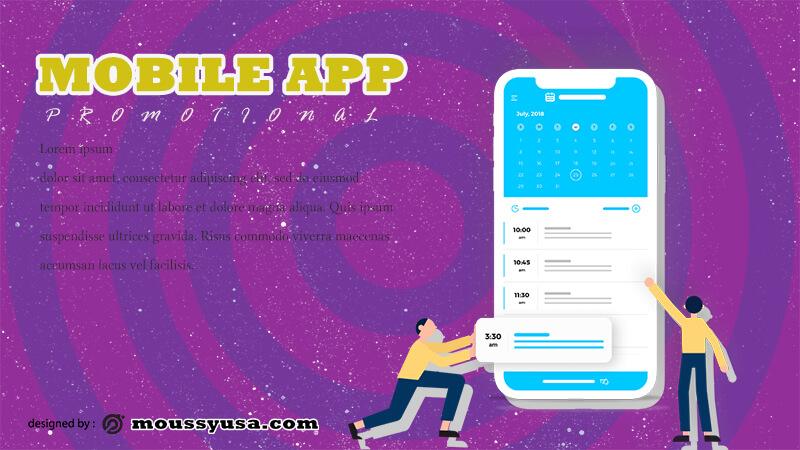 PSD Mobile App Banner Template