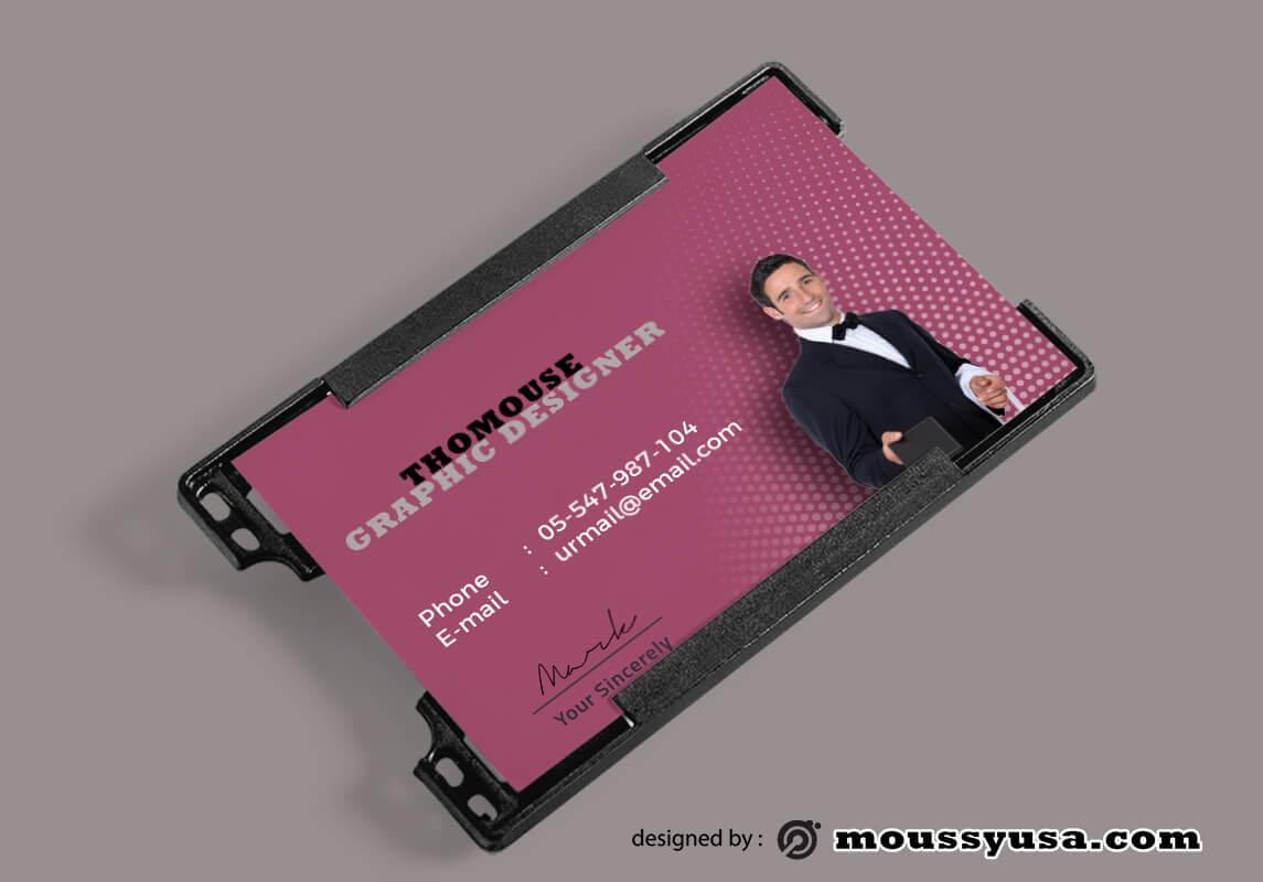 PSD Modern Hotel ID Card Template