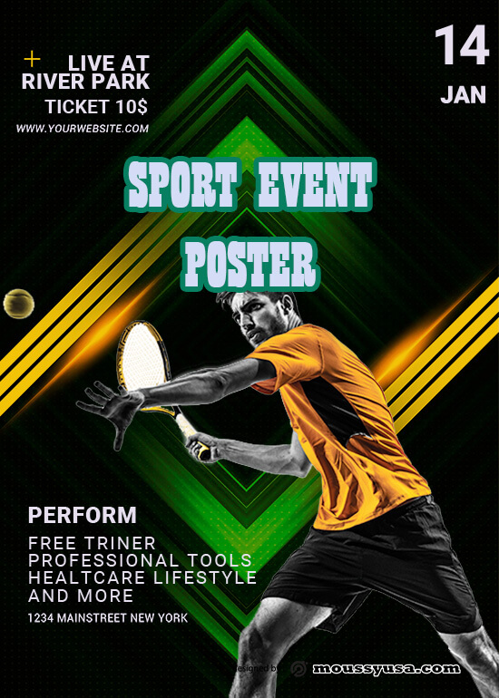 PSD Sport Event Poster Template