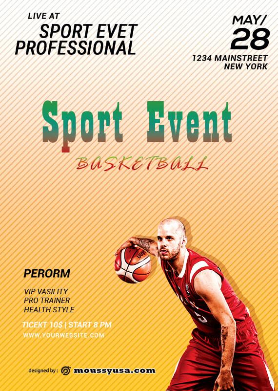 PSD Sport Event Template Sample