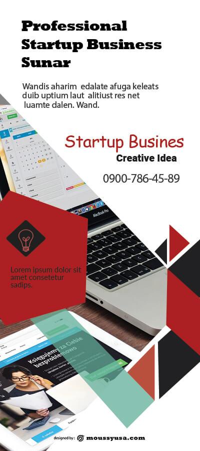 PSD Starup Business Banner Template