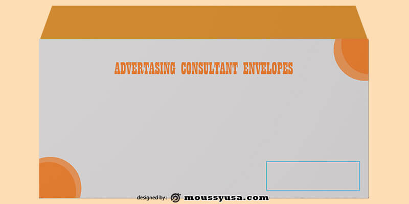 PSD Template For Advertasing Consultant Envelope