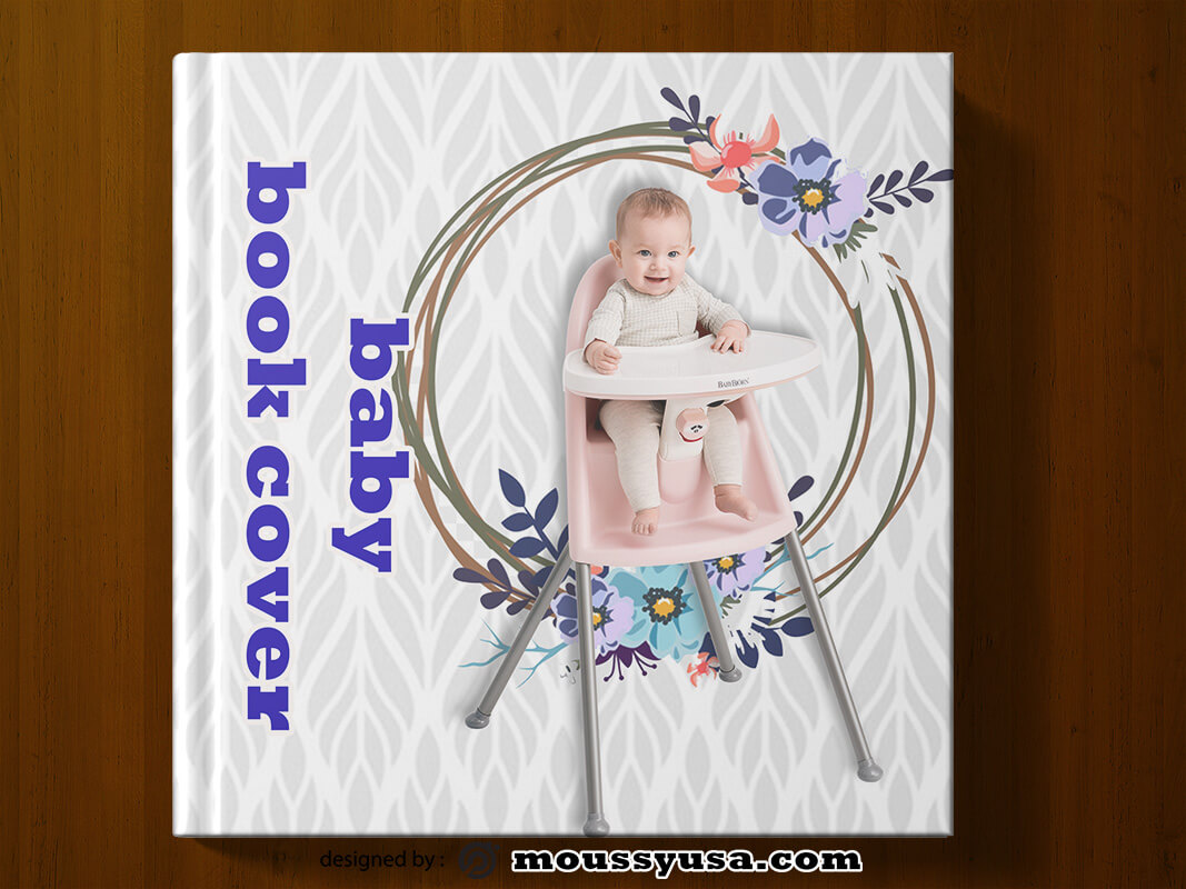 PSD Template For Baby Book Cover