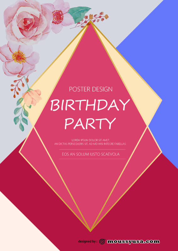 PSD Template For Birthday Party Poster