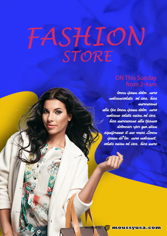 PSD Template For Fashion Poster