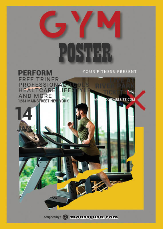 PSD Template For GYM Poster