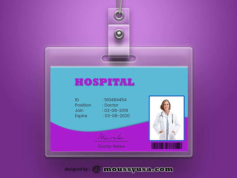 PSD Template For Hospital ID Card