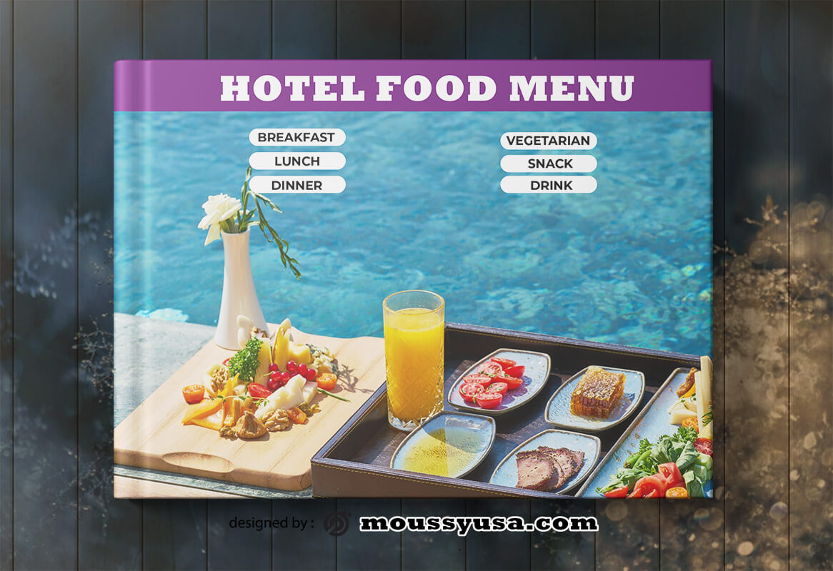 PSD Template For Hotel Book Cover
