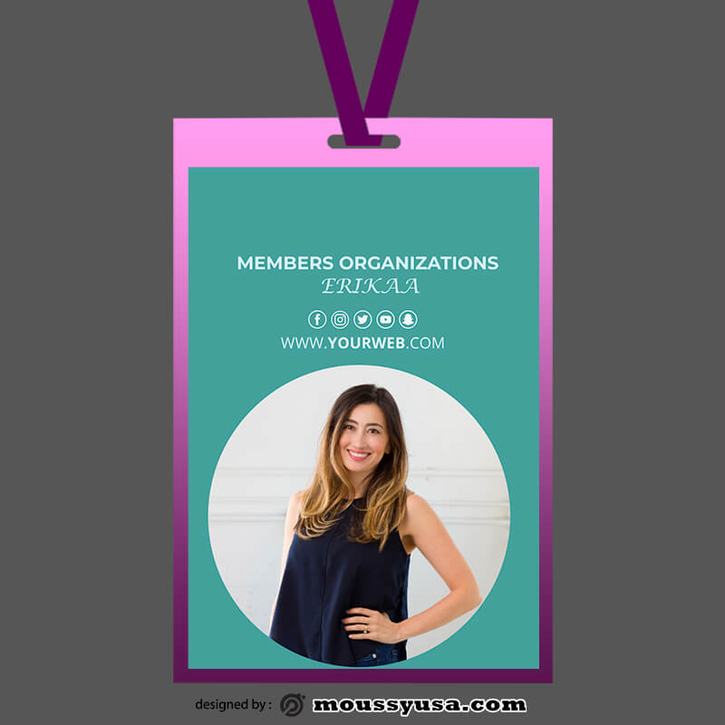 PSD Template For Organizations ID Card
