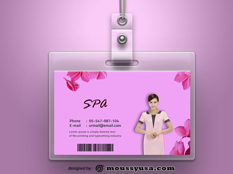 PSD Template For SPA ID Card
