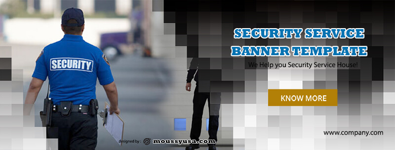 PSD Template For Security Services Banner