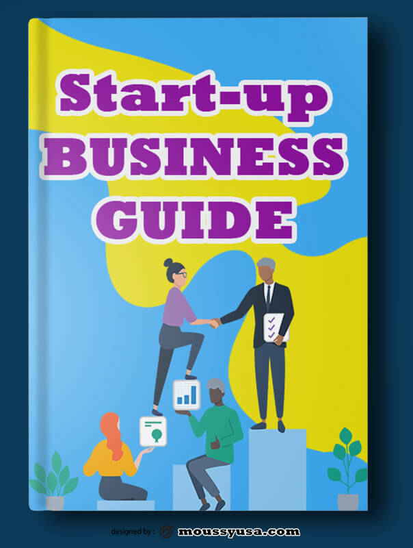 PSD Template For Startup Business Book Cover