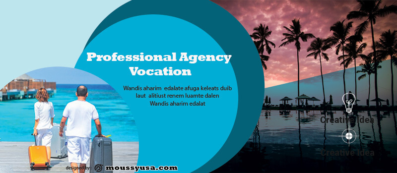 PSD Template For Vacation Banner