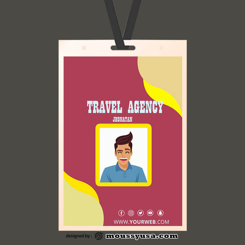 PSD Travel Agency ID Card Template