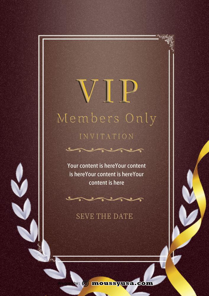 PSD VIP Invitation Template