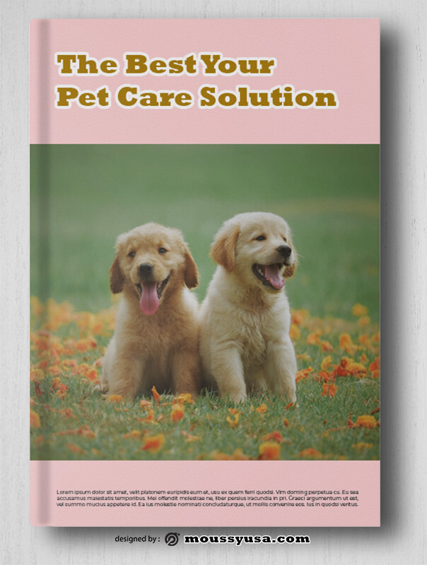 Pet Care Book Cover Template Sample