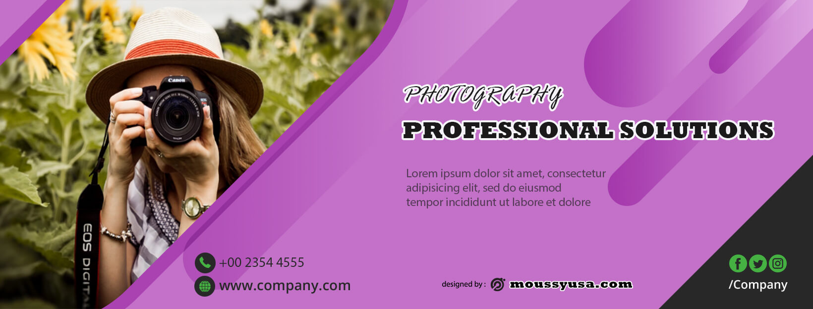 Photography Banner Design Template
