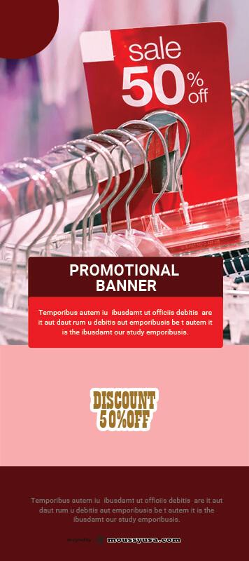 Promotional Banner Design PSD