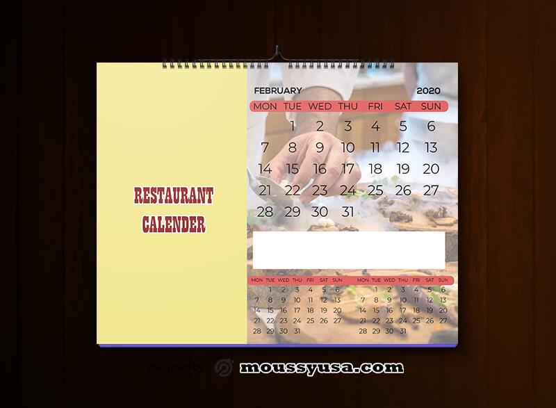 Restaurant Calender Design Ideas